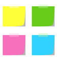 four note papers in multiple colors vector image vector image
