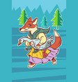 fox steals goose bird fairytale character vector image vector image
