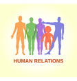 Full length front human relations vector image vector image