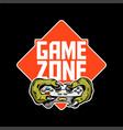 game zone sign logo design vector image