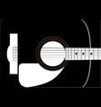 guitar soundboard vector image