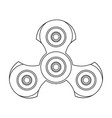 hand spinner stress relief ridget toy icon use in vector image vector image