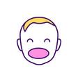 happy childhood rgb color icon vector image