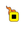 hot flame icon button theme art vector image vector image
