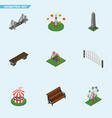 isometric urban set of seesaw sitting dc vector image vector image