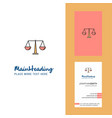 justice creative logo and business card vertical vector image vector image