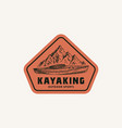 kayaking abstract frame sign symbol or logo vector image