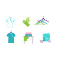 laundry elements set equipment and facilities for vector image vector image
