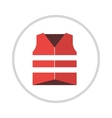 Life vest jacket flat icon icon vector image vector image