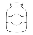 line mason glass with circle sticker decoration vector image vector image