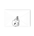 Locked mail with lock vector image vector image
