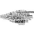 lovely word cloud concept vector image vector image