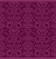 luxury damask background vector image vector image