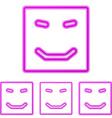 Magenta line happy logo design set vector image vector image