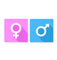 male and female button square stock vector image