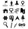 Map navigation icons set vector image vector image