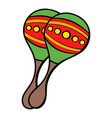 maracas icon cartoon vector image