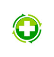 medical health solutions center vector image vector image