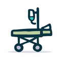 medical stretcher sketch icon vector image vector image