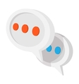 Message or chat cartoon icon vector image