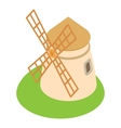 Mill icon cartoon style vector image