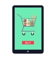 Online Grocery Store Concept Banner vector image vector image