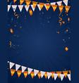 orange white balloons confetti concept design vector image vector image