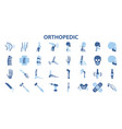 orthopedic and spine symbol set vector image