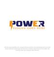 power electric logo designs vector image vector image