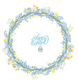 round garland with spring flowers muscari and vector image vector image