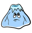 sad ice mountain on white background vector image