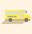 school transportation bus yellow cartoon vector image