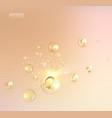 science of a cream molecule vector image vector image