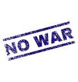 scratched textured no war stamp seal vector image