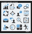Set of 25 modern bussiness icons vector image vector image
