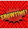 Showtime comic cartoon text vector image vector image