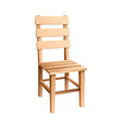 simple wooden chair vector image