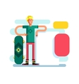 Skateboarder with advertising vector image vector image