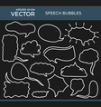 sketched speech bubbles with editable stroke vector image vector image