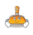Smirking dustpan character cartoon style