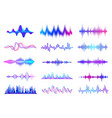 sound waves frequency audio waveform music wave vector image