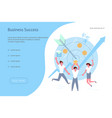 team of young businessmen jump for joy vector image vector image