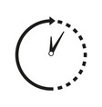 time-clock around icon vector image