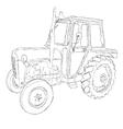 tractor art vector image