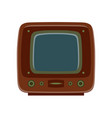 tv retro television icon old vintage screen vector image vector image