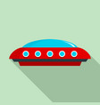 ufo icon flat style vector image vector image