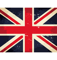 vintage great britain flag vector image