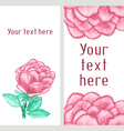 watercolor business banner with roses vector image vector image