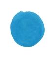 Watercolor round blue spot eps 10 vector image vector image