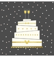 Wedding Cake Card vector image vector image